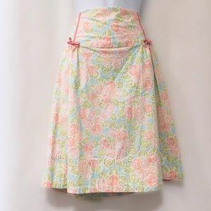 🆕 Anthropologie Pastel Floral A-Line Skirt